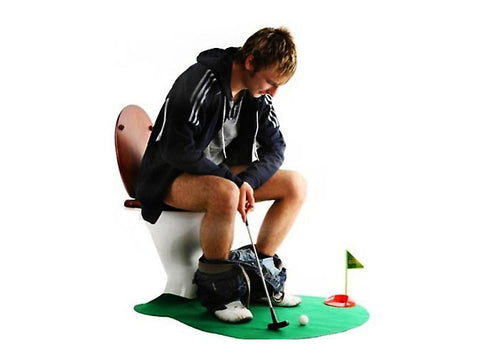 7 Piece Potty Golf Toy Set