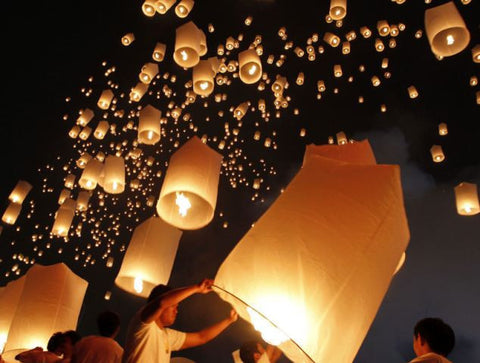 6 Pack of SKY LANTERNS