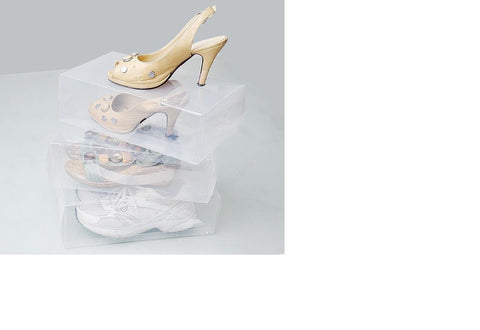 5 Pcs Transparent plastic Shoebox