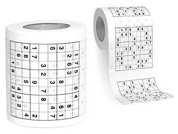 150 Sheets Sudoku Toilet Papers