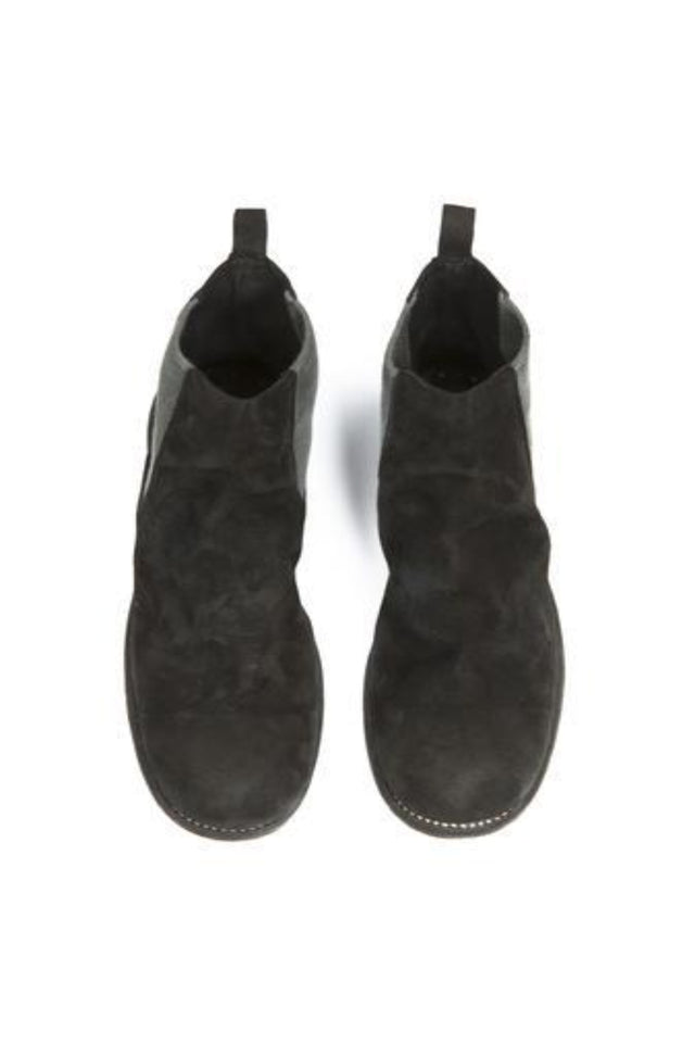 96 Calf Reverse Boots In Black