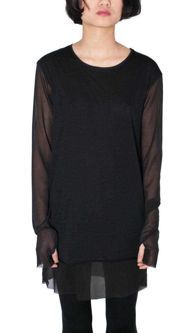 Andrea Ya'Aqov Silk Crew Neck Sweater