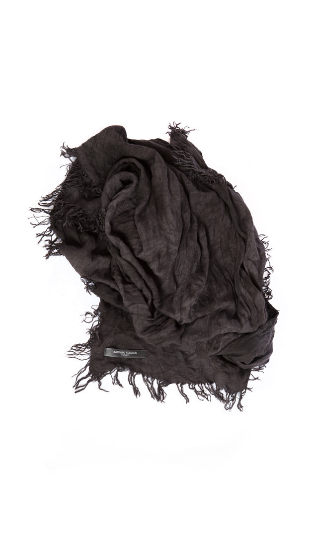 Attachment Scarf with Frayed Edge