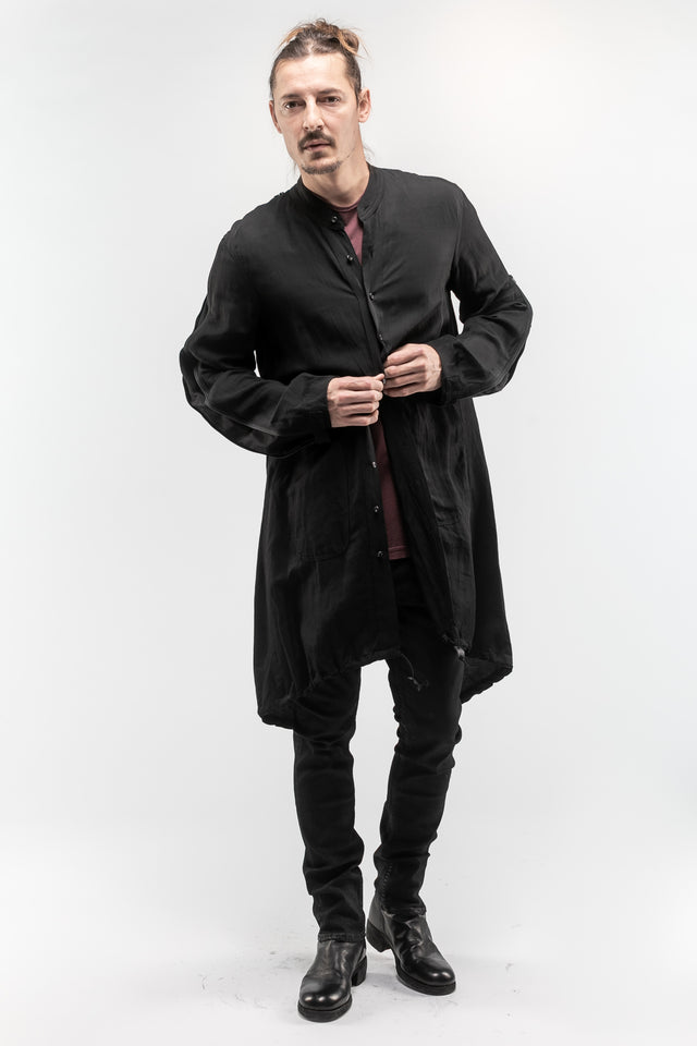 Stand Collar Zip Shirt Jacket