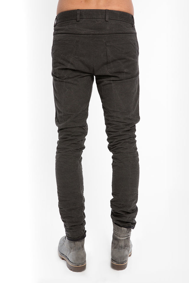 Layer-0 5P Pant In Grey Canvas
