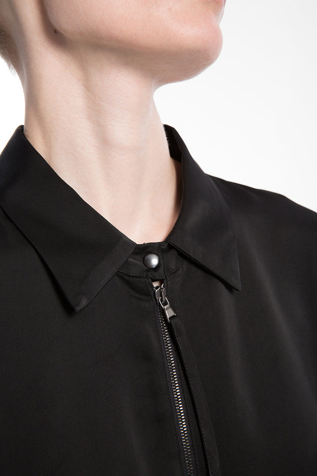 Ilaria Nistri Zip Front Top In Black