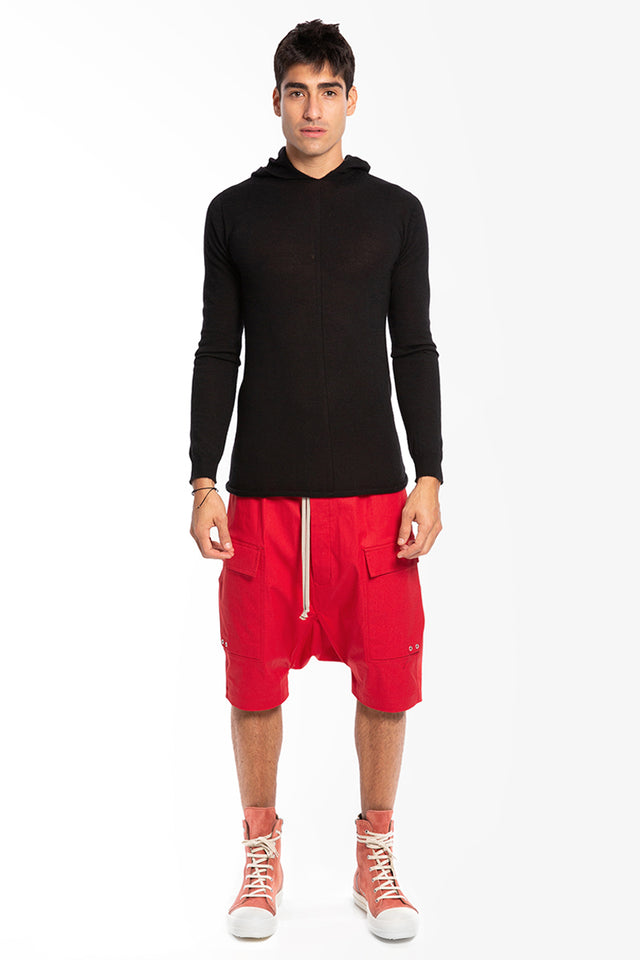 Rick Owens Cargo Pods In Cardinal Red