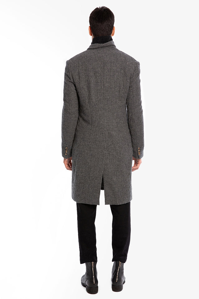 Forme D'Expression DB Reefer Coat In Grey