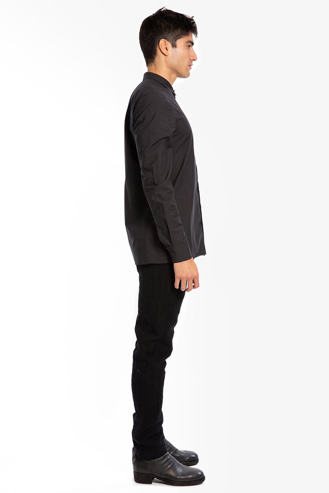 Label Under Construction Button Shirt In Black