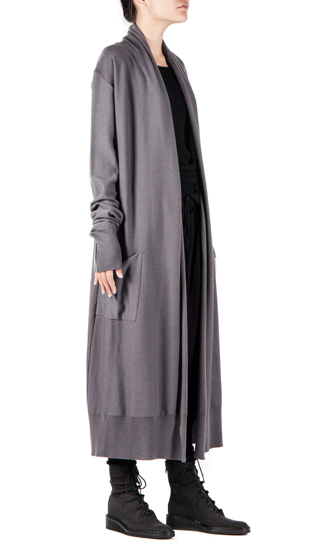 Daniel Andresen Ceibo Long Cardigan in Grey