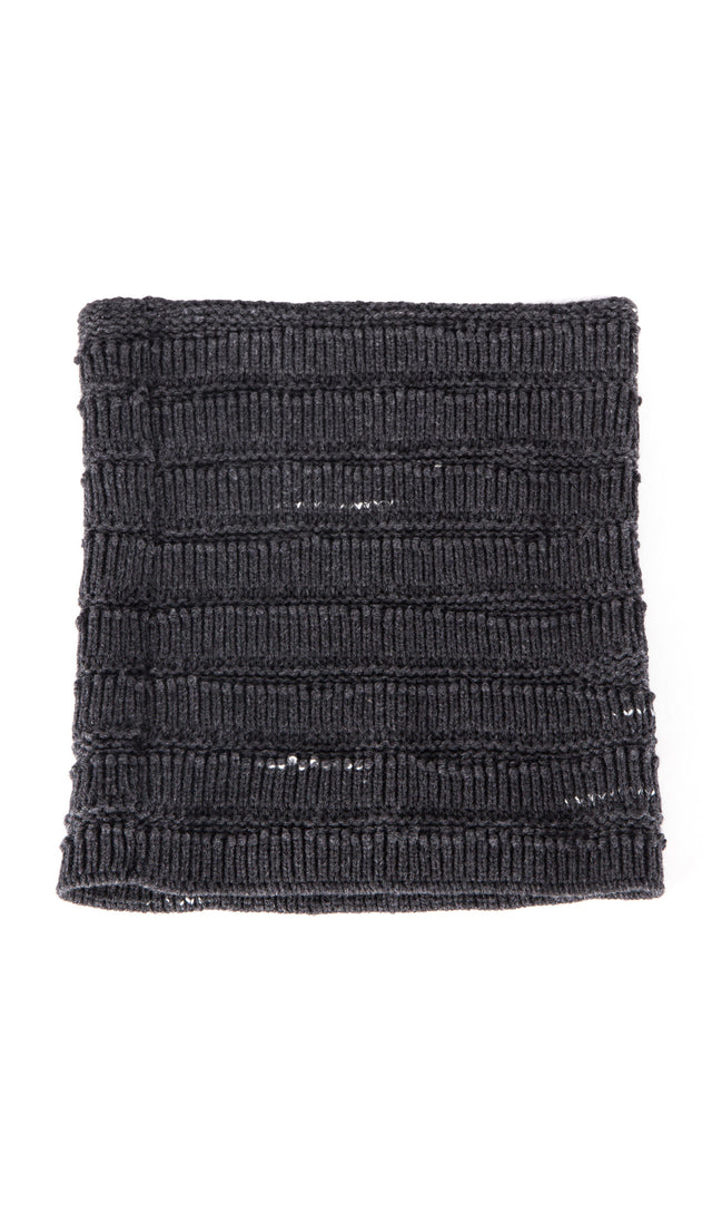 Forme d'expression Ladder Knit Warmer in Charcoal