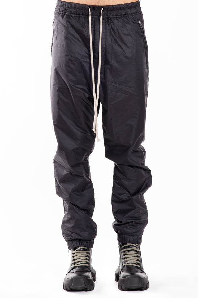 Rick Owens Woven Track Pants in Black