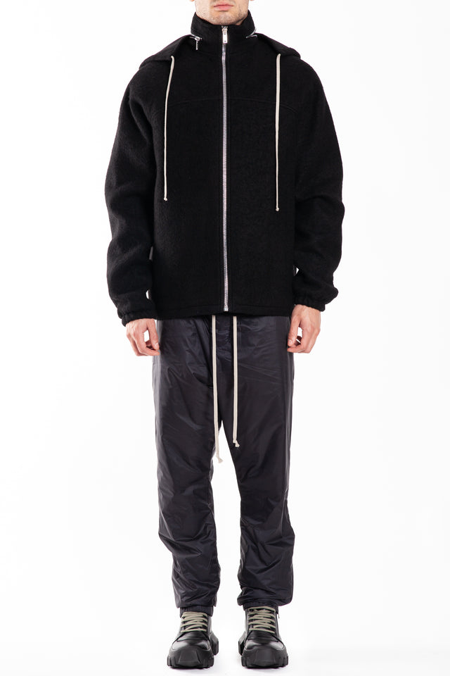 Rick Owens Windbreaker Woven Jacket in Black