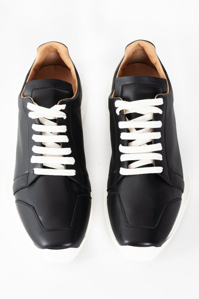 Rick Owens Oblique Lace Up Leather Runner