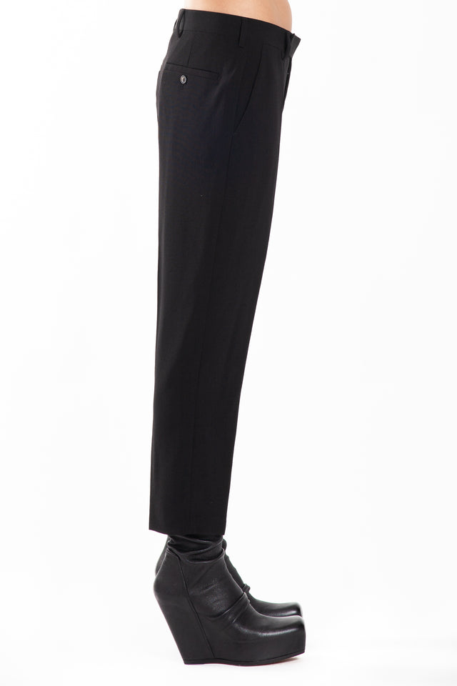 Rick Owens Easy Astaire Woven Pants in Black