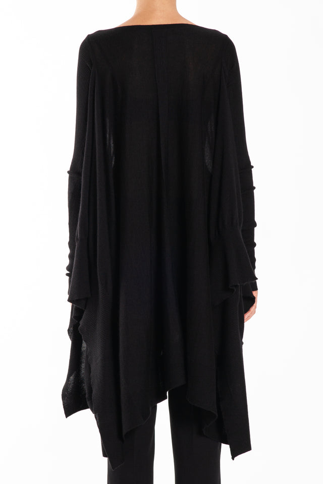 Rick Owens Poncho Knit Sweater in Black