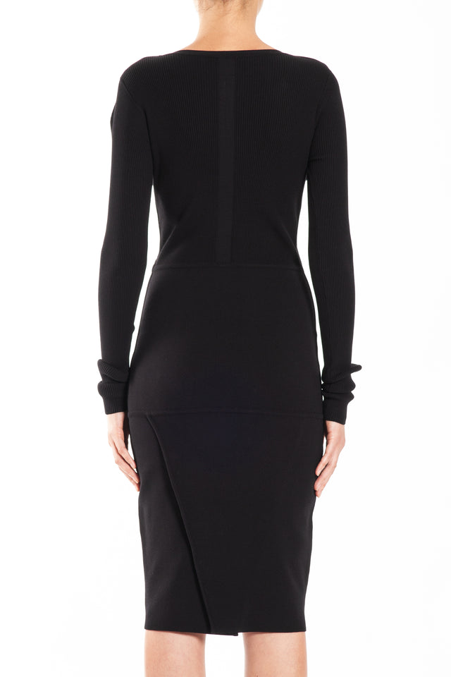 Rick Owens Scarpa Knit Dress in Black