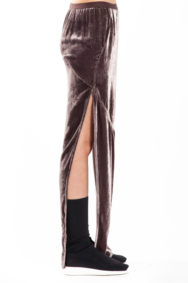 Rick Owens Dirt Woven Skirt in Raisin