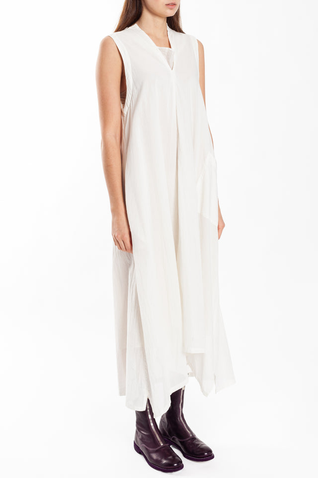 Y's By Yohji Yamamoto V Gusset Dress in White