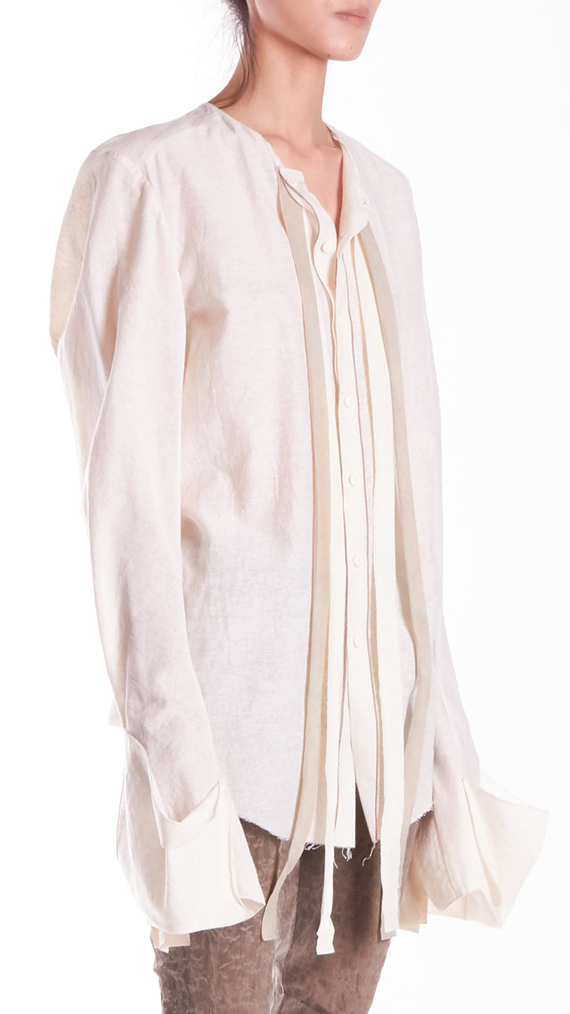 Phaedo H2C White Silk Top