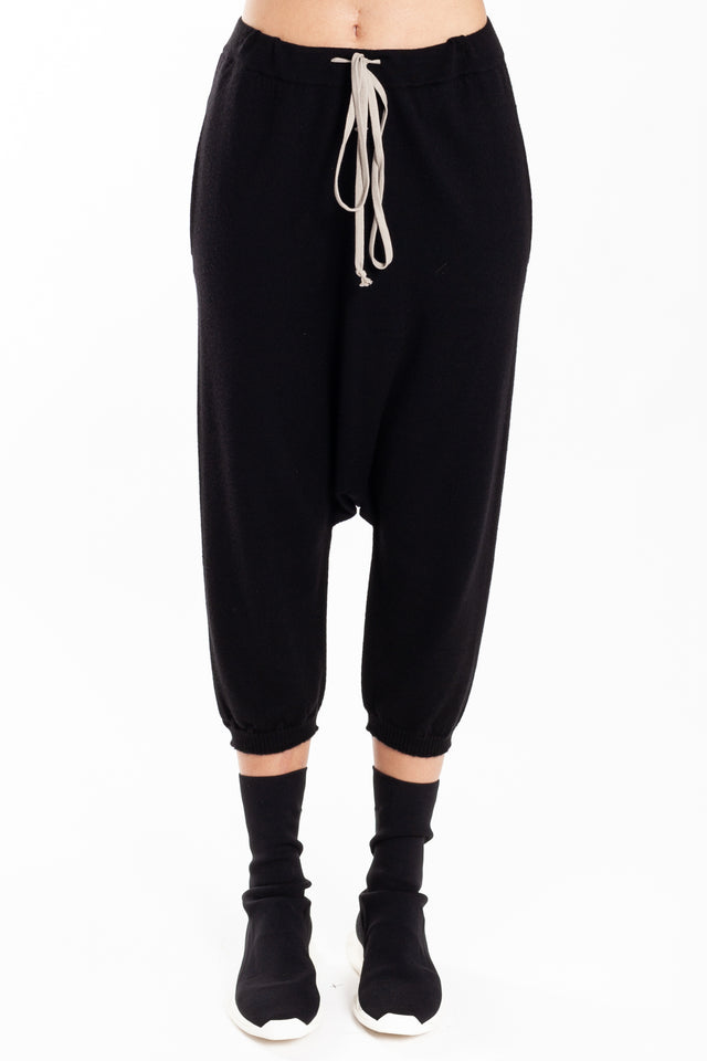 Rick Owens Cropped Knit Drawstring