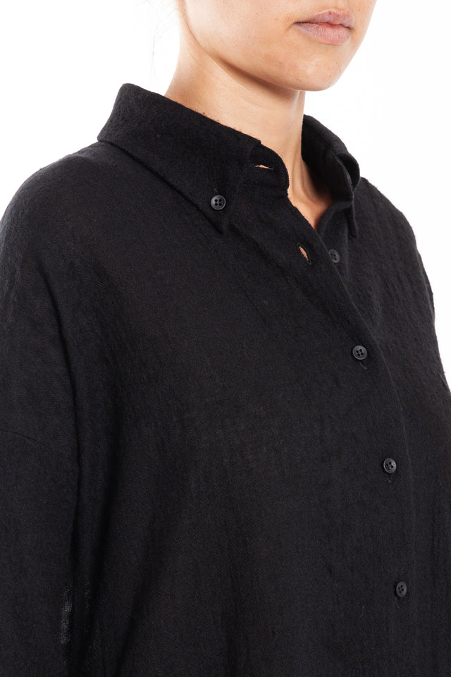 Uma Wang Tandy Shirt Top in Black