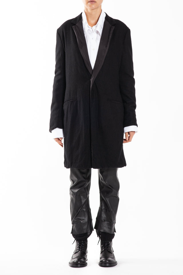 Y's by Yohji Yamamoto Tailored Big Jacket in Black