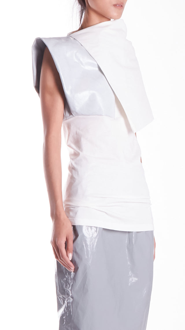 Rick Owens Uranian Woven Top In White