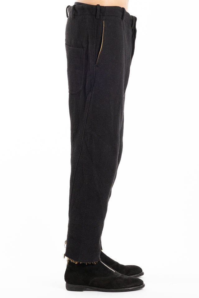 Forme d'expression Cropped Swag Pants in Black