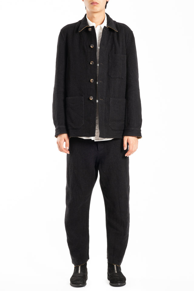 Forme d'expression French Work Jacket in Black