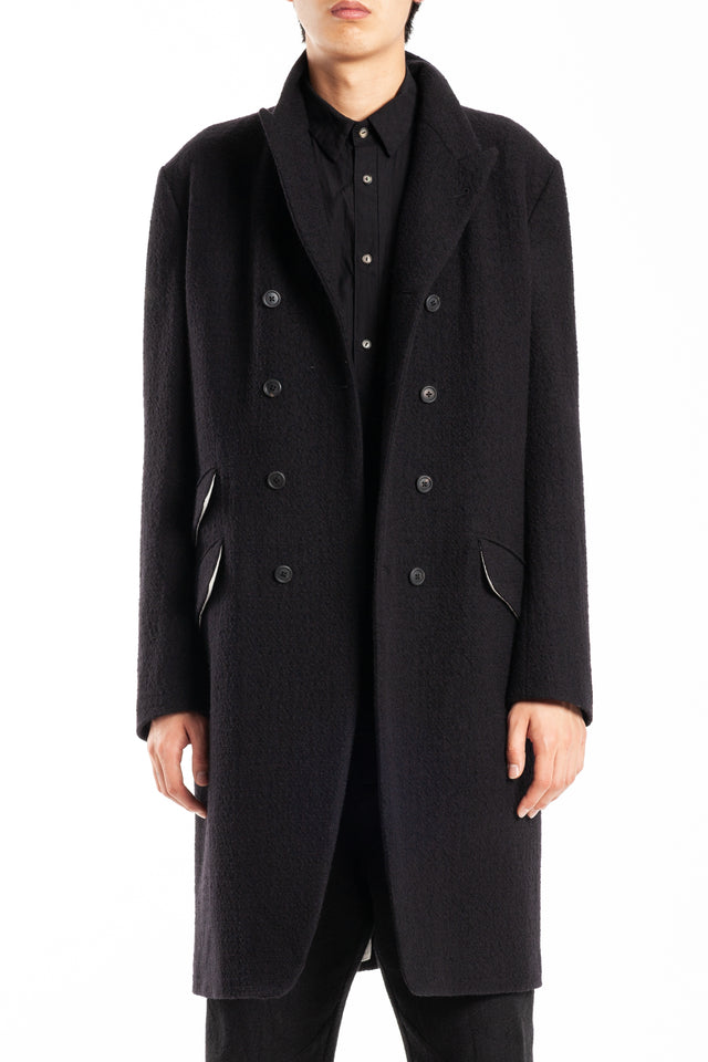 Forme d'expression DB Reefer Coat in Black