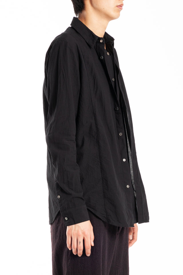 Forme d'expression Layered Front Shirt in Black