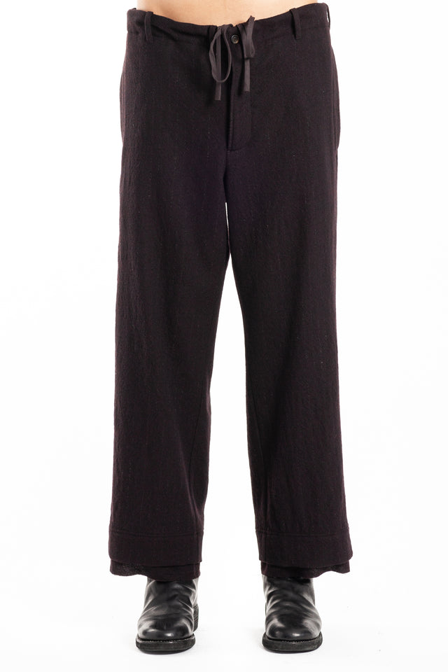 Forme d'expression Wide Pyjama Pants in Eggplant