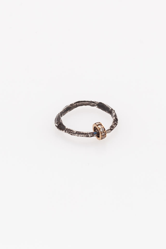 Rene Talmon L'Armee Ring with Gold & Diamond Roll