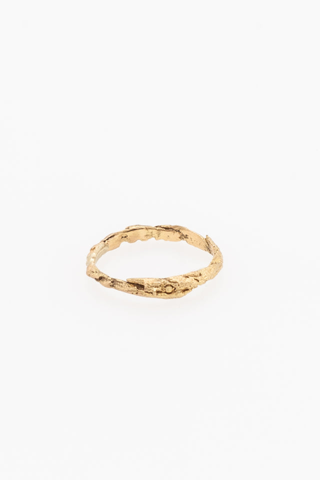 Rene Talmon L'Armee Gold Wood Ring