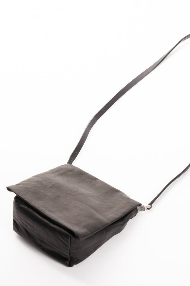 Rick Owens Small Flap Adri Leather Bag in Black