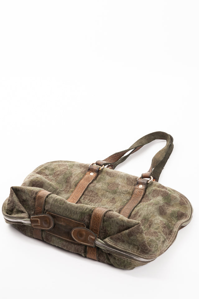 Guidi GB1A Linen Camouflage Medium Handle Bag