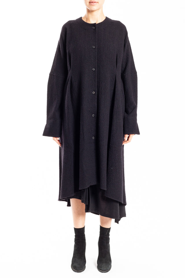 Forme d'expression Tunic Dress Coat in Black (GPNB)