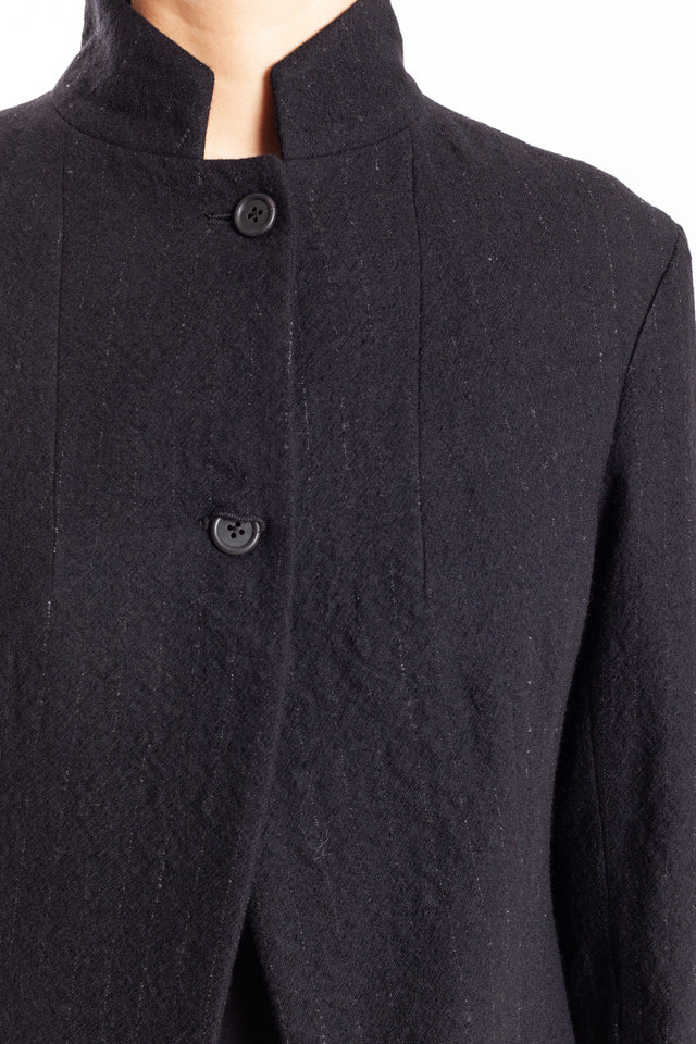 Forme d'expression Tailed Habit Jacket in Black