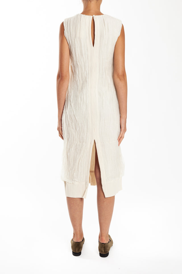 Phaedo Two-way Column Dress in White