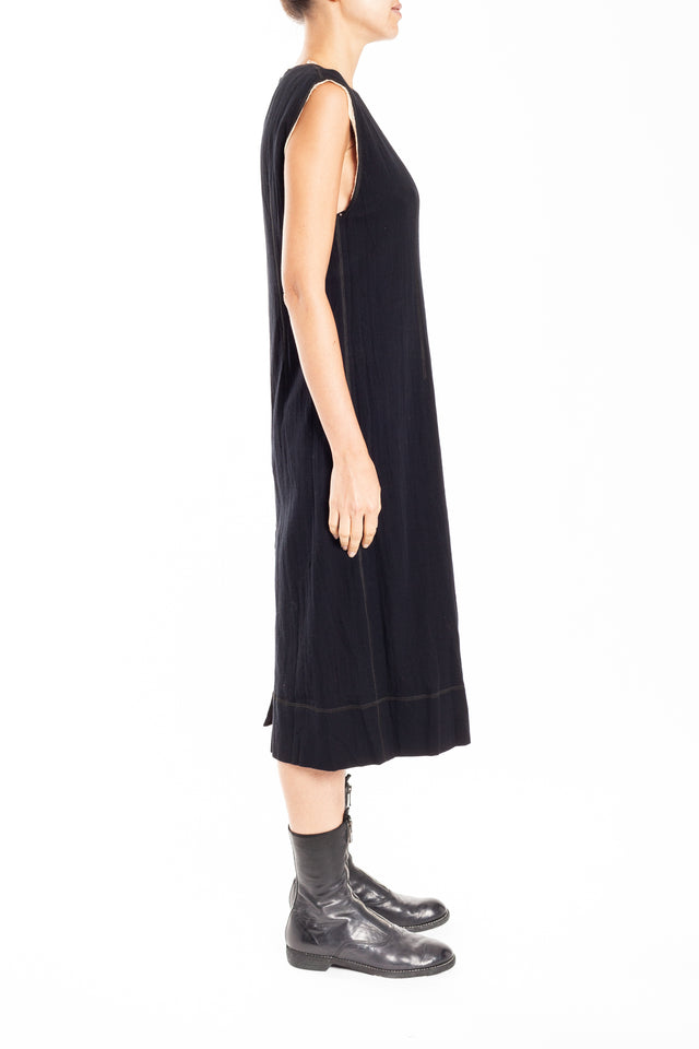 Phaedo Two-way Column Dress in Black