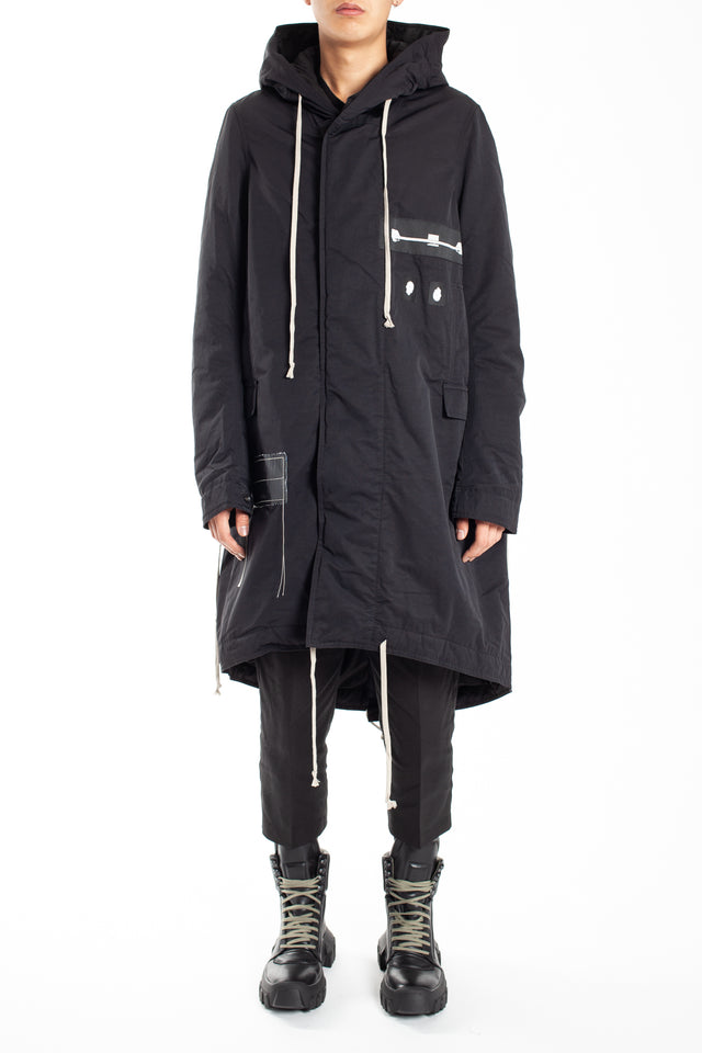 Rick Owens Drkshdw Fishtail Parka in Black