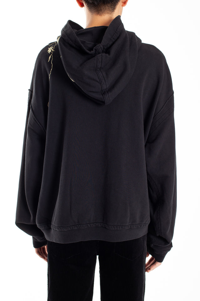 Haider Ackermann Perth Embroidery Hoodie in Black