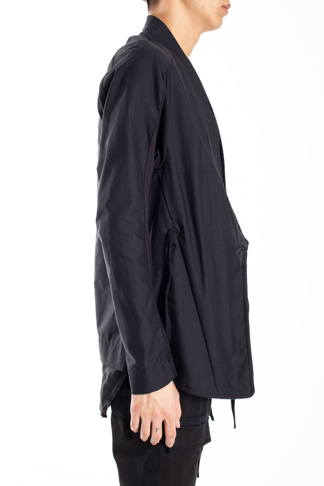 Abasi Rosborough Arc Kimono Shirt in Black