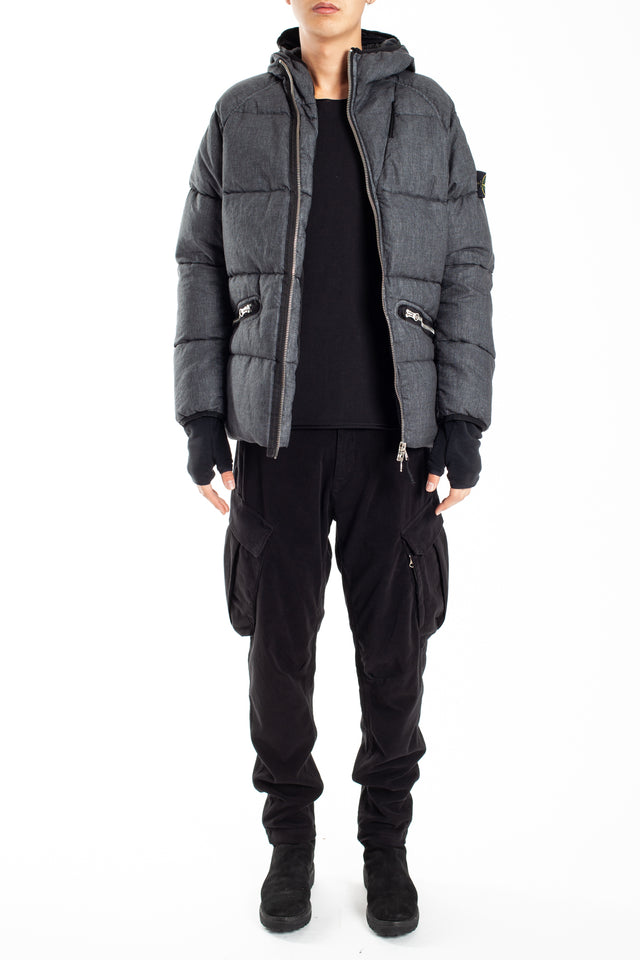 Stone Island Real Down Outerwear in Black