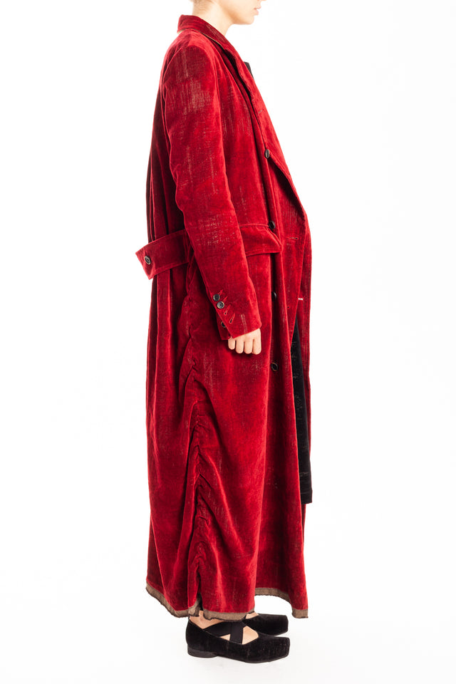 Uma Wang Chaz Coat in Red