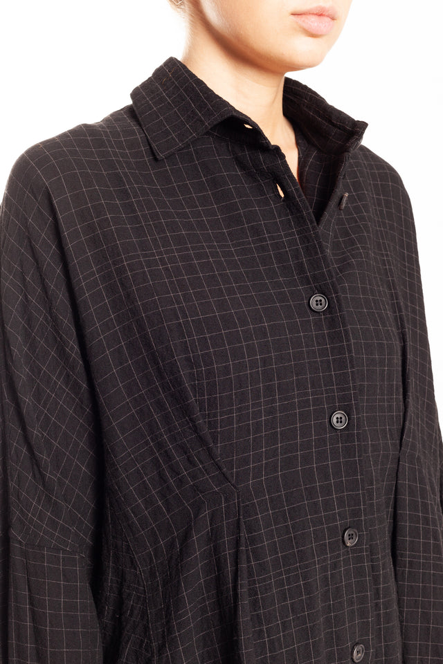 Forme d'expression Tent Shaped Shirt in Black