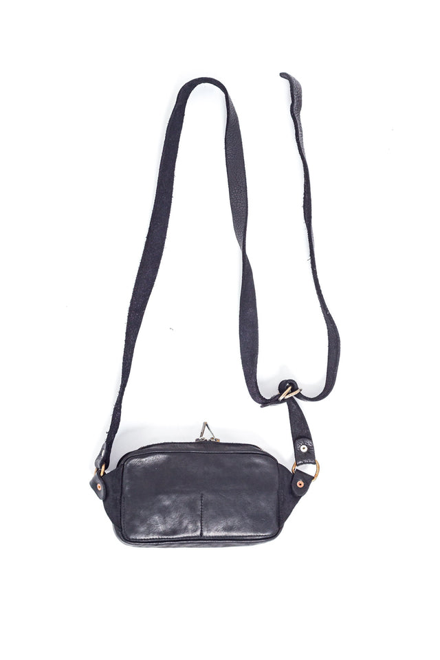 Guidi BV04 Soft Horse FG Fanny Pack in Black