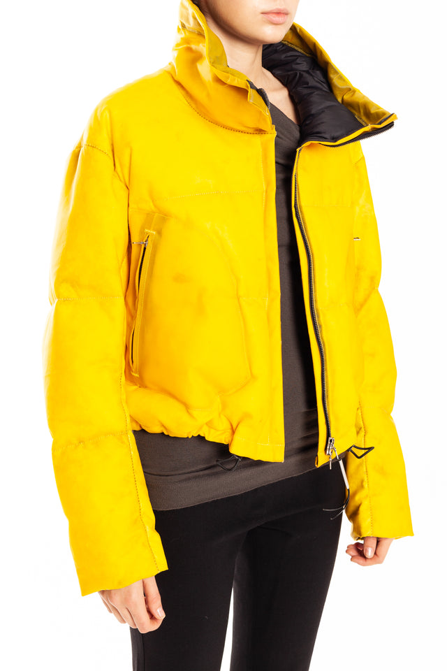 Isaac Sellam Barree H19 Down Leather Jacket in Yellow