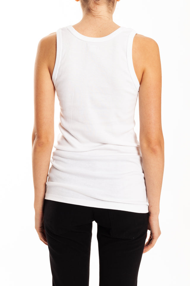 Ann Demeulemeester Cote Tank Top in White